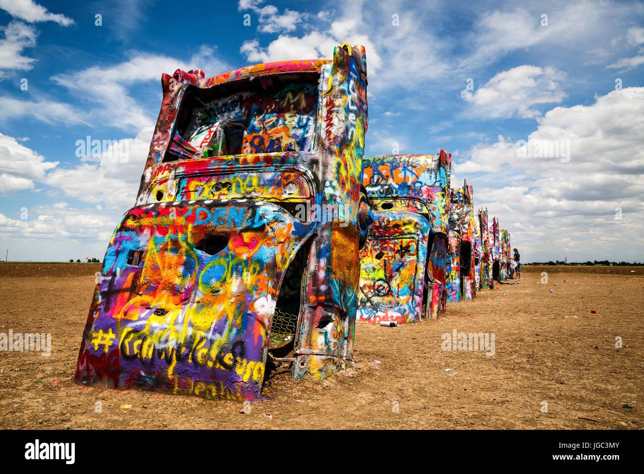 Cadillac Ranch Historic Route 66 Texas Usa Stock Photo 147783803