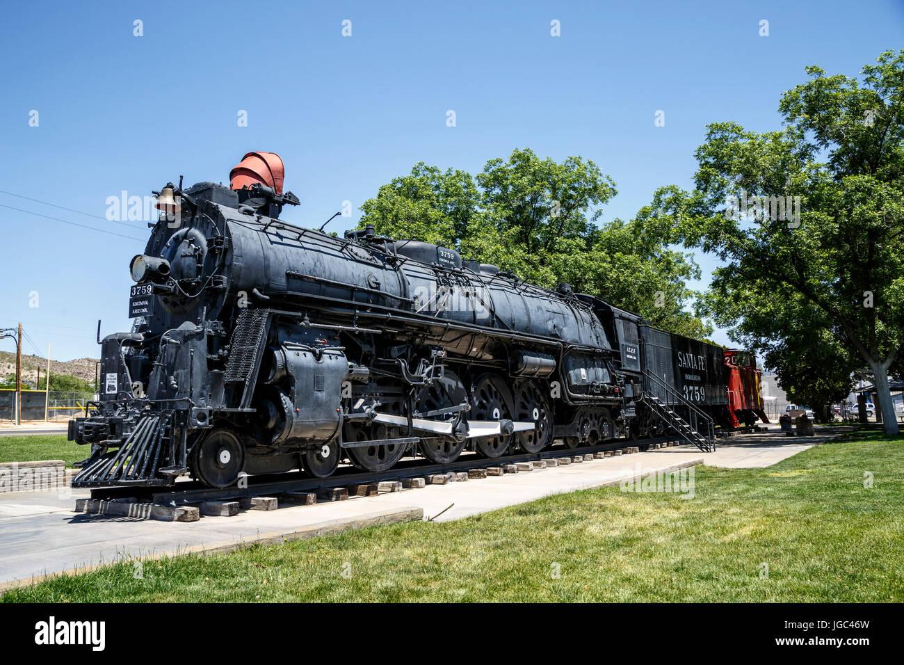 Locomotive, Kingman, Arizona, Historic Route 66, USA - Stock Image
