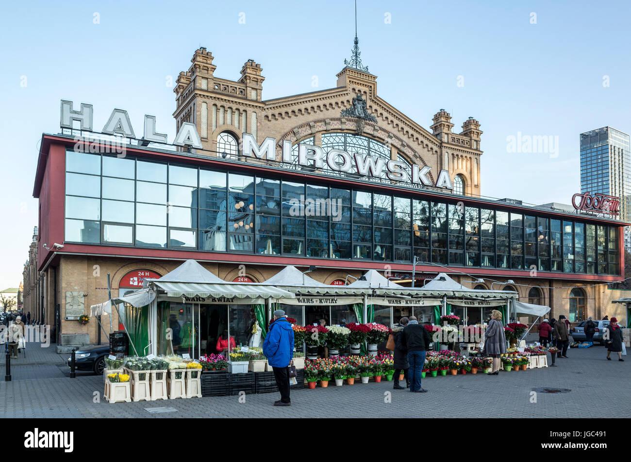 Hale Mirowskie, Warsaw, Poland - Stock Image