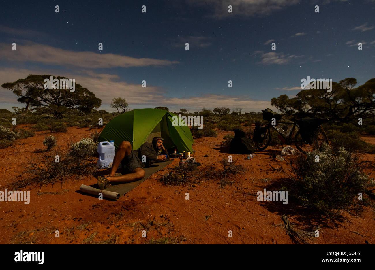 Camping in Australia - Stock Image
