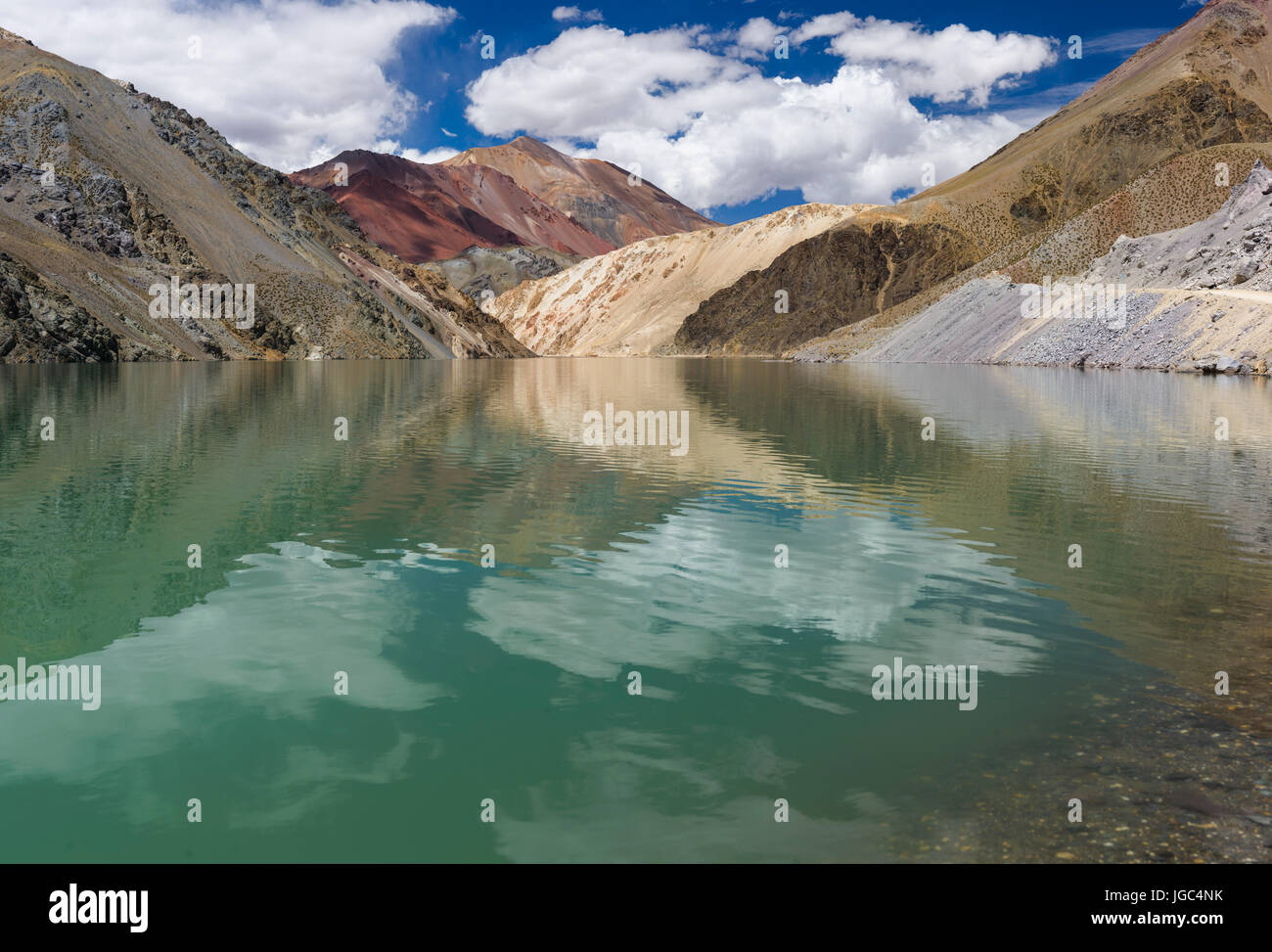 Agua Negra pass, Andes, Chile Argentina - Stock Image