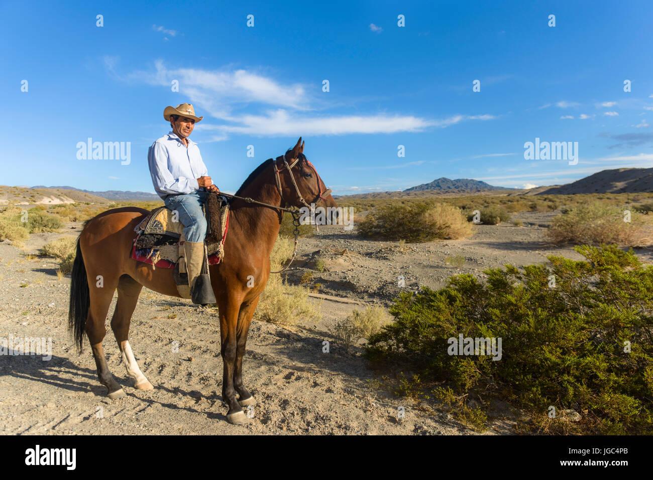 Argentine gaucho, San Juan, Argentina - Stock Image