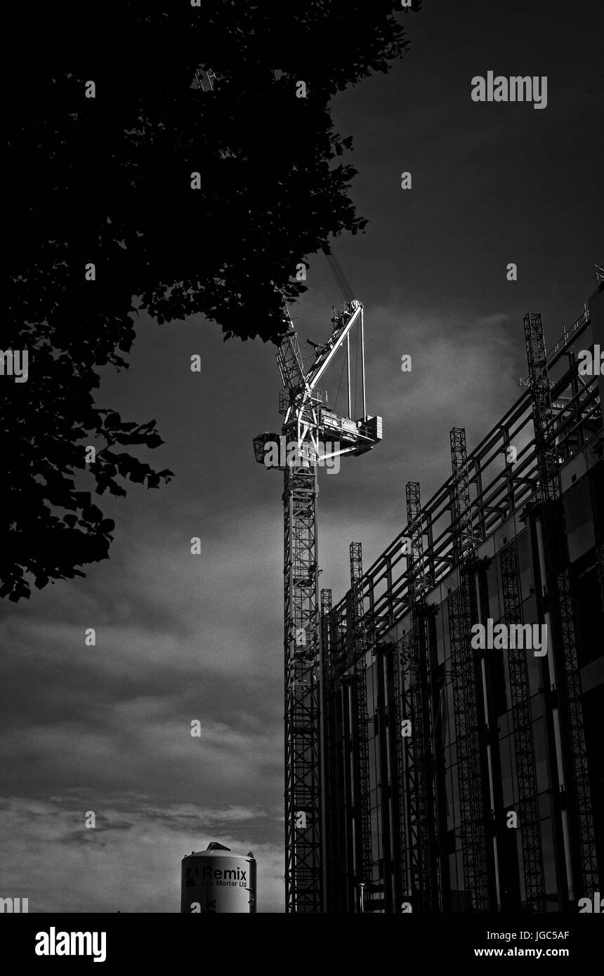 New construction in Cardiff - Stock Image