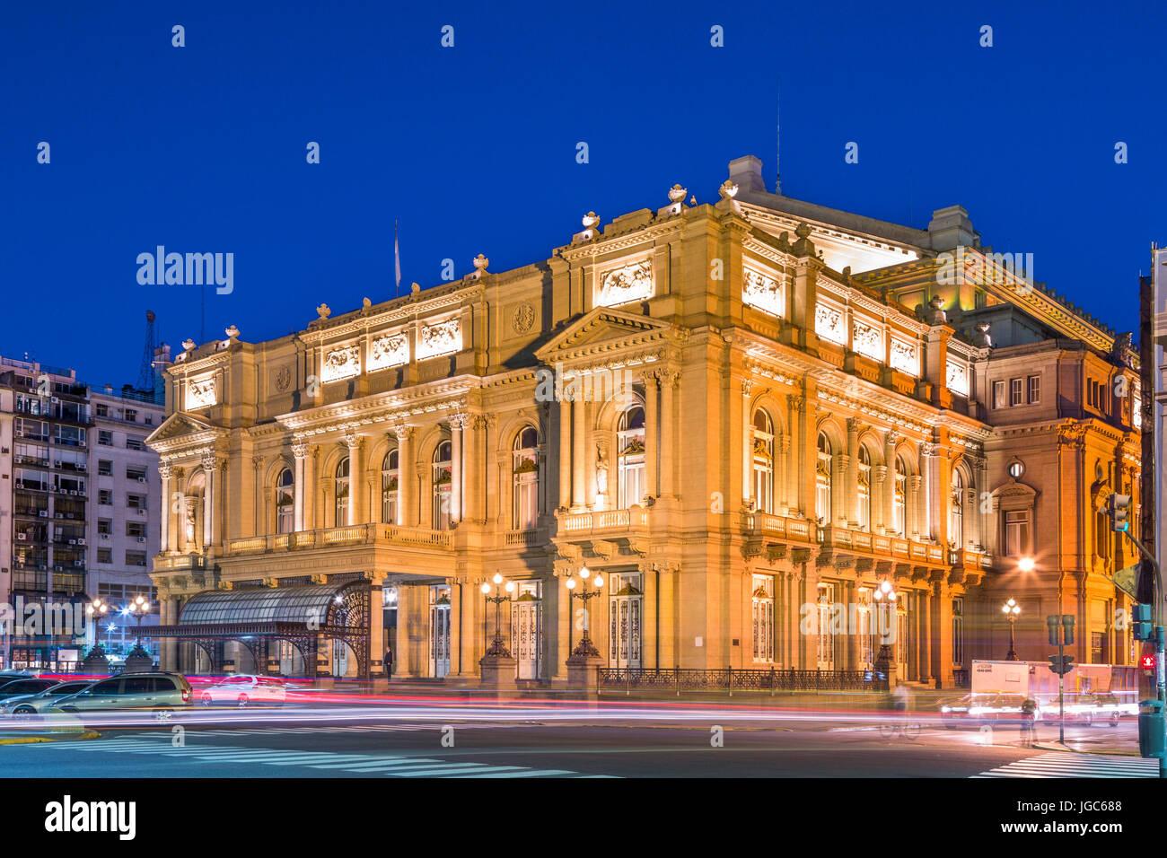 Teatro Colón, Buenos Aires, Argentina, South America - Stock Image