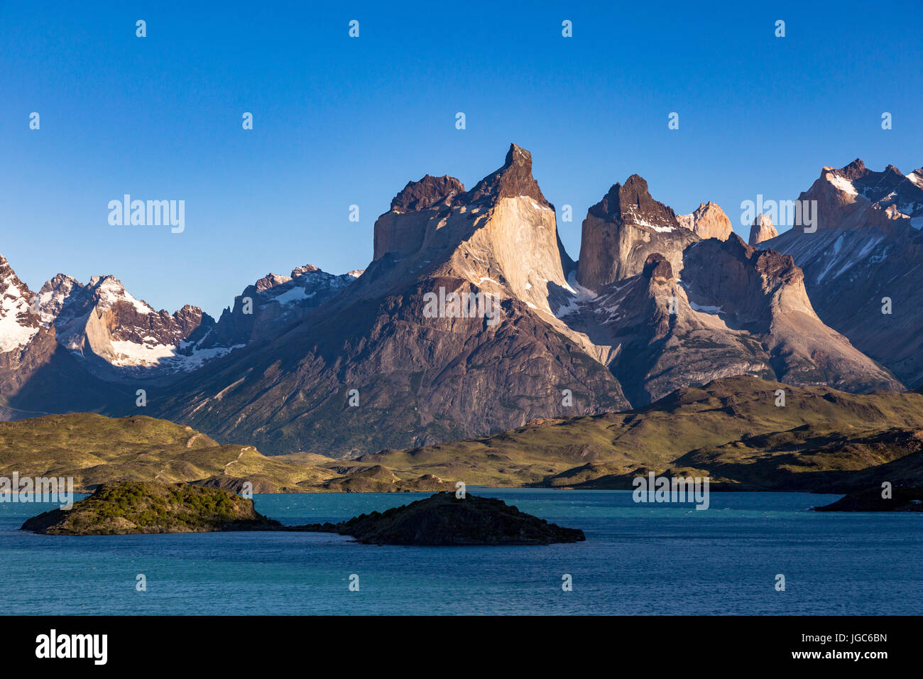 Lago Pehoe, Torres del Paine National Park, Patagonia, Chile - Stock Image