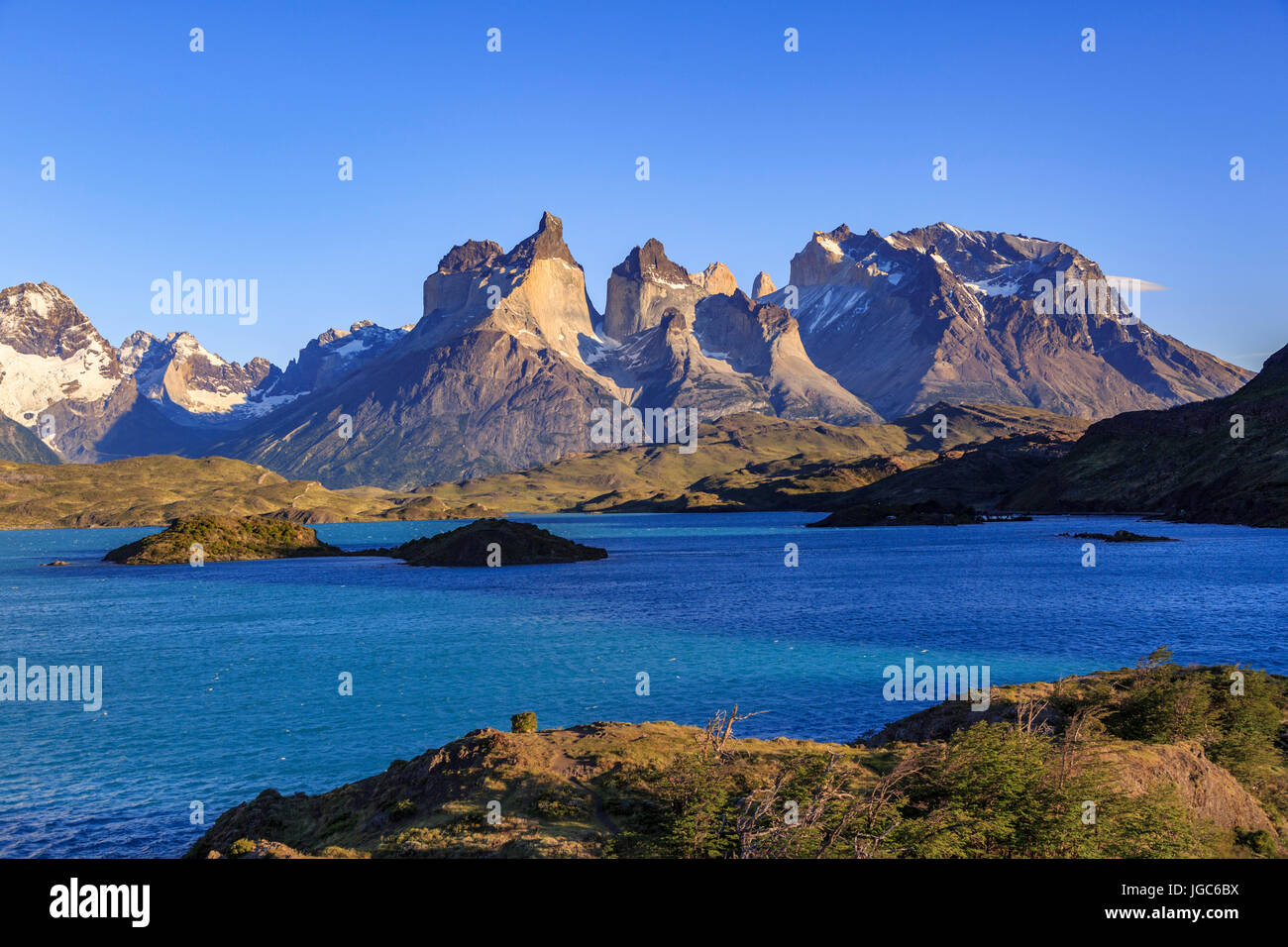 Lago Pehoe, Torres del Paine National Park, Patagonia, Chile Stock Photo
