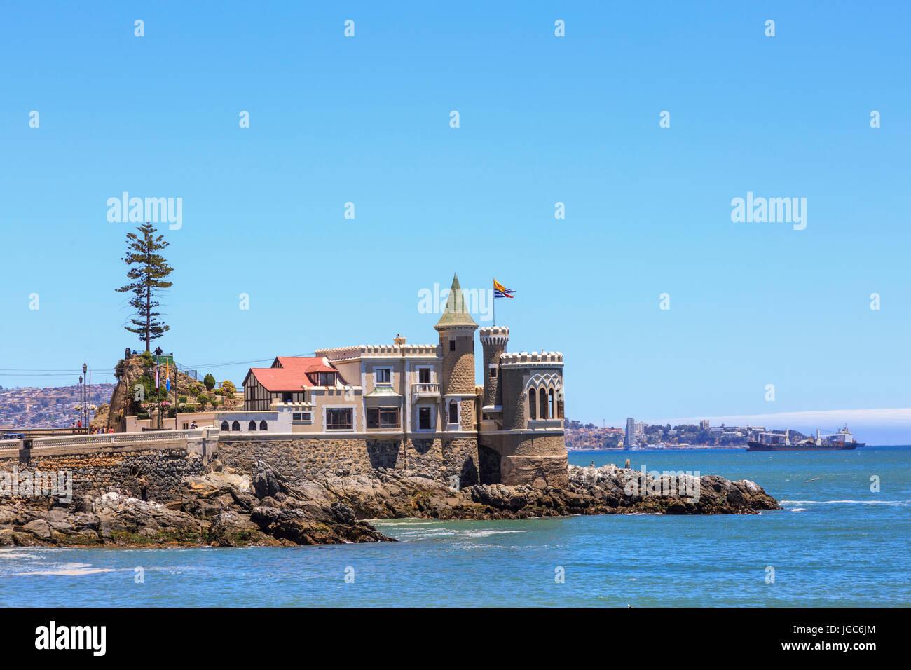 Wulff Castle, Viña del Mar, Chile, South America - Stock Image