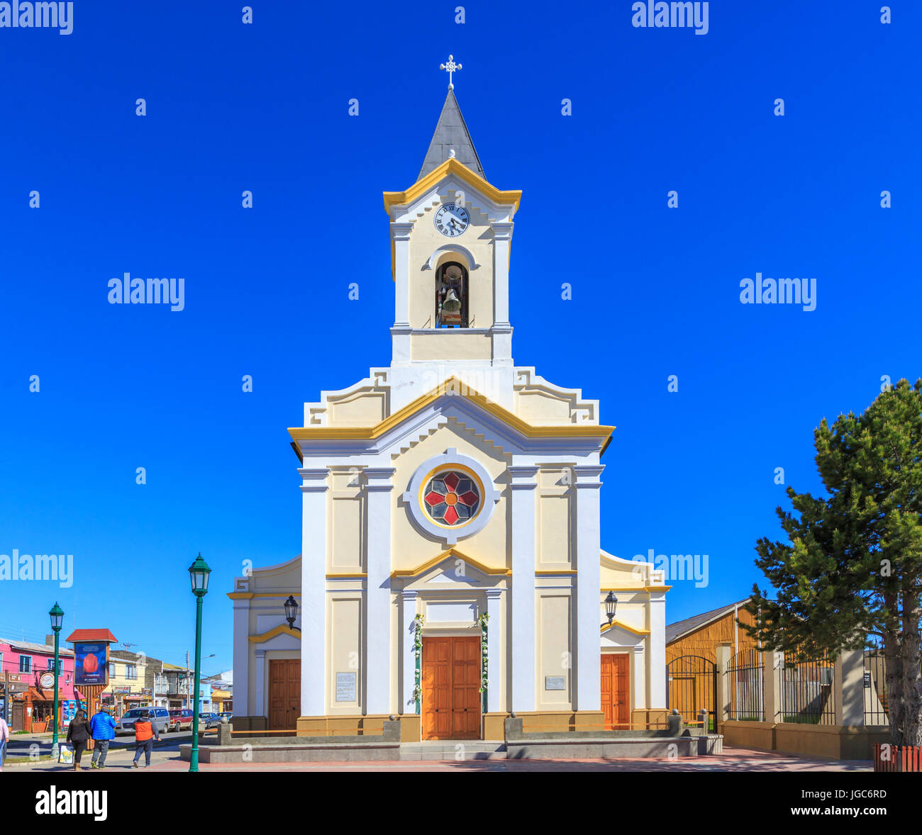 Cathedral of Puerto Natales, Chile, South America - Stock Image