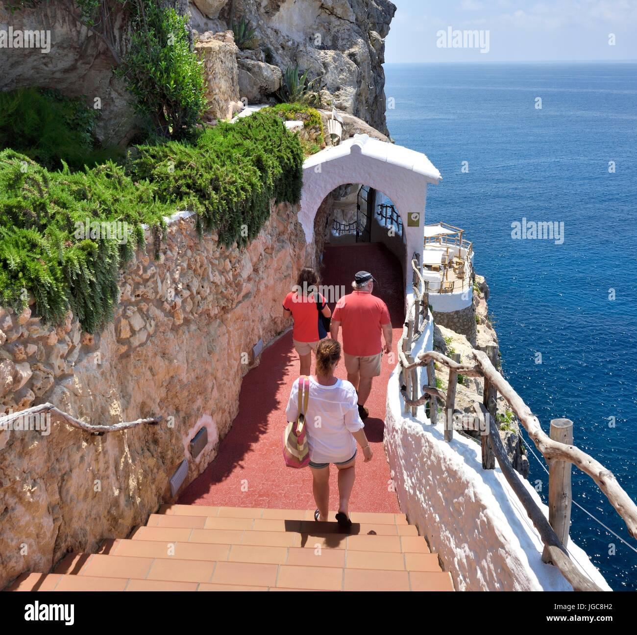 Cova d'en Xoroi Menorca Balearic islands Spain - Stock Image