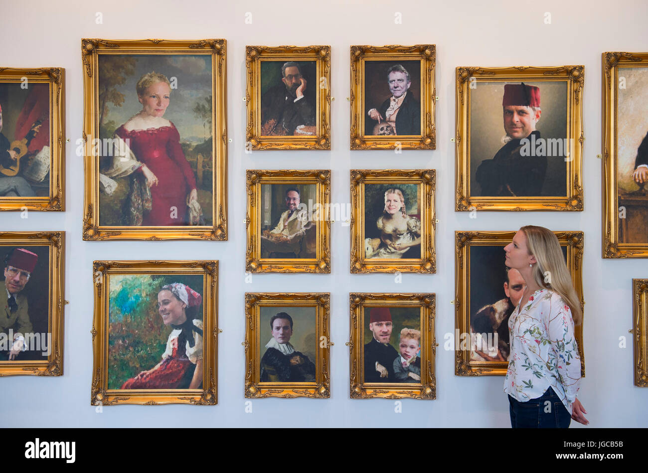 Somerset House, London, UK. 5th July 2017. Imagine a fictional society inspired by the real history of Somerset - Stock Image