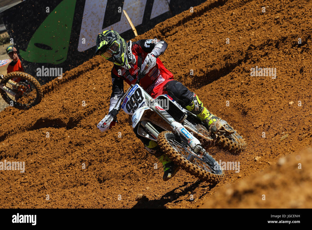 Rui Goncalves #999 (POR) in Husqvarna of 8Biano Racing Husqvarna in action during the Warm-up MXGP World Championship - Stock Image