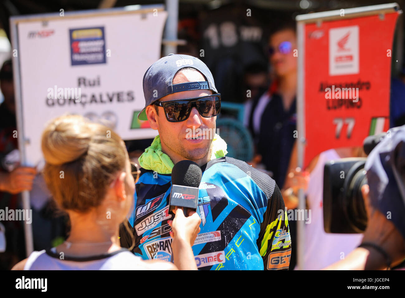 Rui Goncalves #999 (POR) in Husqvarna of 8Biano Racing Husqvarna in action during the MXGP World Championship 2017 - Stock Image
