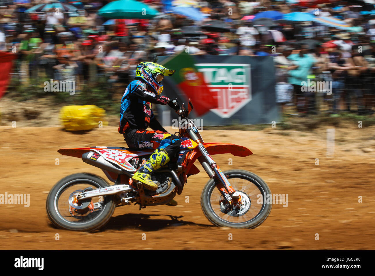 Antonio Cairoli #222 (ITA) in KTM of Red Bull KTM Factory Racing in action during the MXGP World Championship 2017 - Stock Image