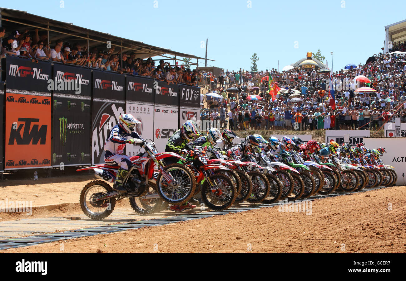 Start of first race during the MXGP World Championship 2017 Race of Portugal, Agueda, July 2, 2017. (Photo by Bruno - Stock Image