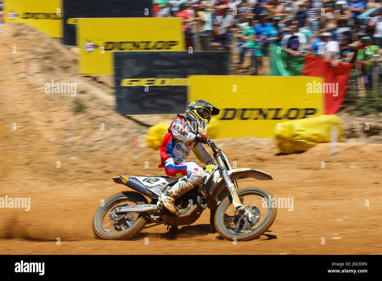 Maximilian Nagl #12 (GER) in Husqvarna of Rockstar Energy Husqvarna Factory Racing in action during the MXGP World - Stock Image