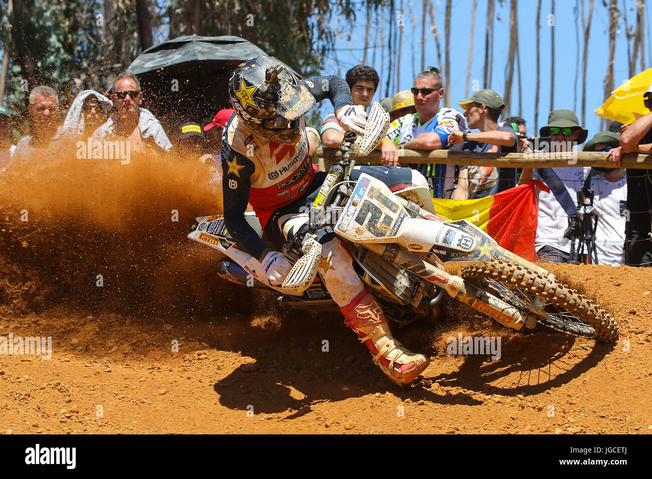 Gautier Paulin #21 (FRA) in Husqvarna of Rockstar Energy Husqvarna Factory Racing in action during the MXGP World - Stock Image