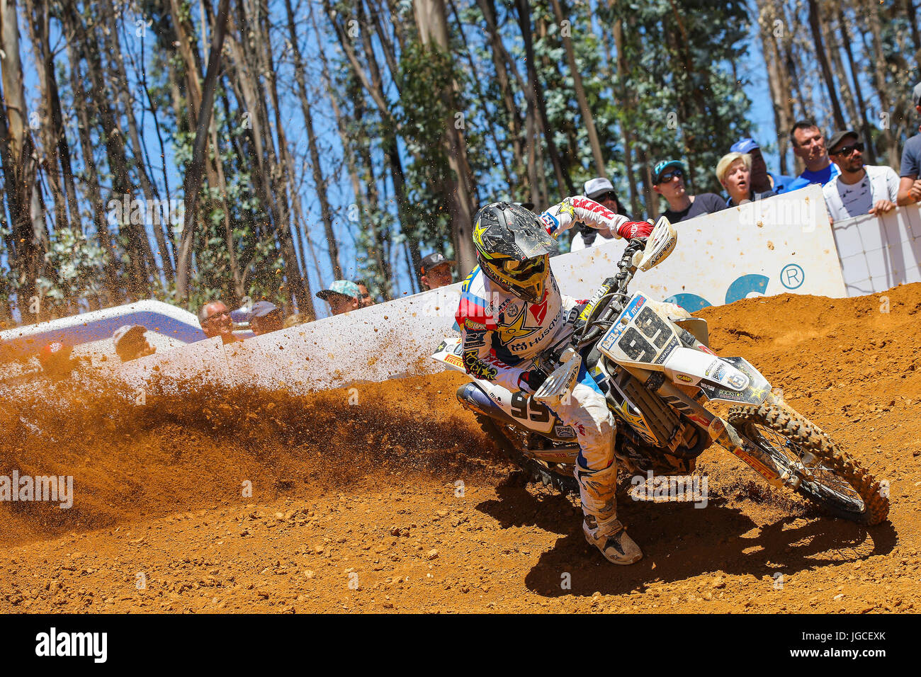 Max Anstie #99 (GBR) in Husqvarna of Rockstar Energy Husqvarna Factory Racing in action during the MXGP World Championship - Stock Image