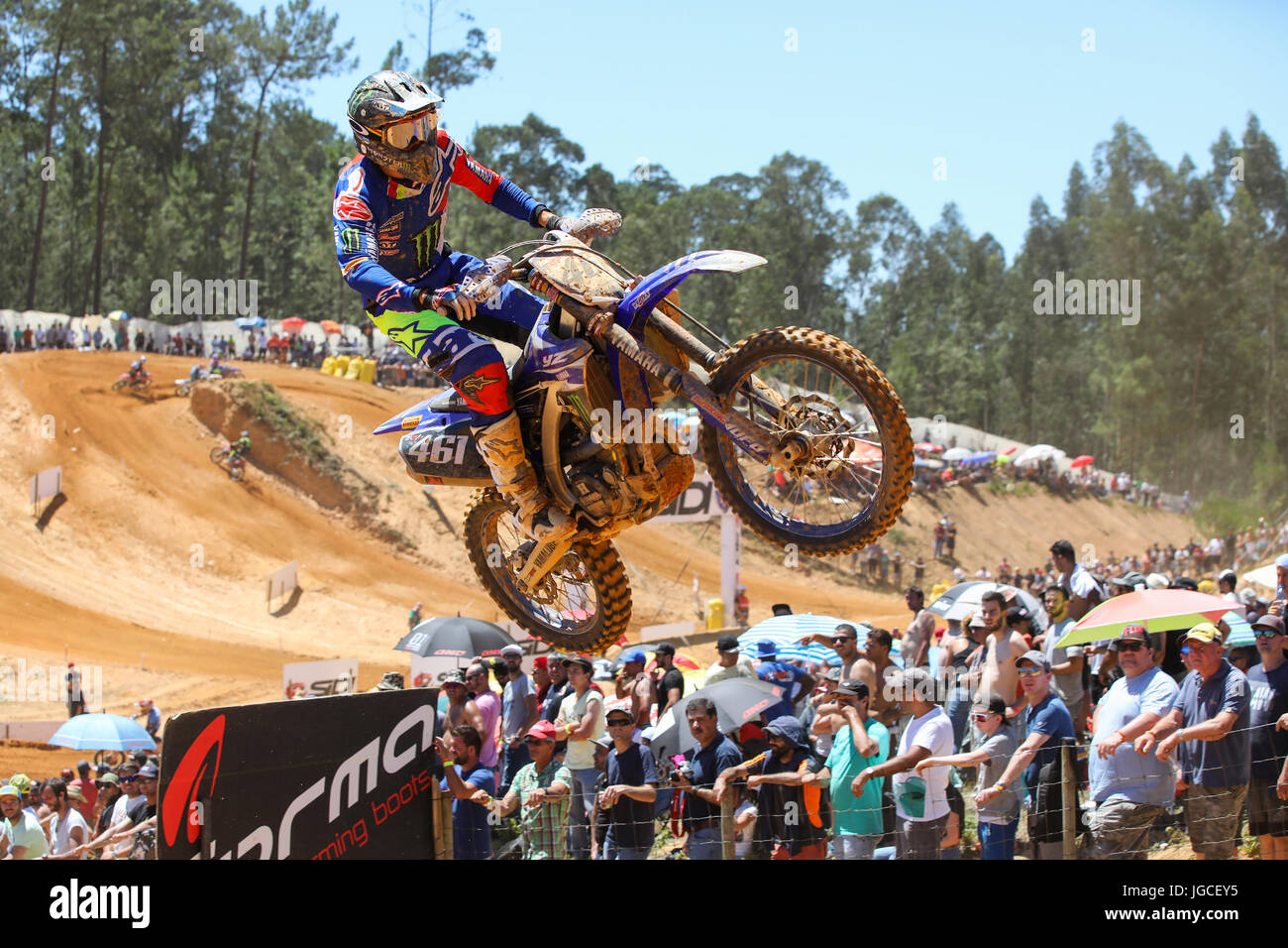 Romain Febvre #461 (FRA) in Yamaha of Monster Energy Yamaha Factory MXGP Team in action during the MXGP World Championship Stock Photo