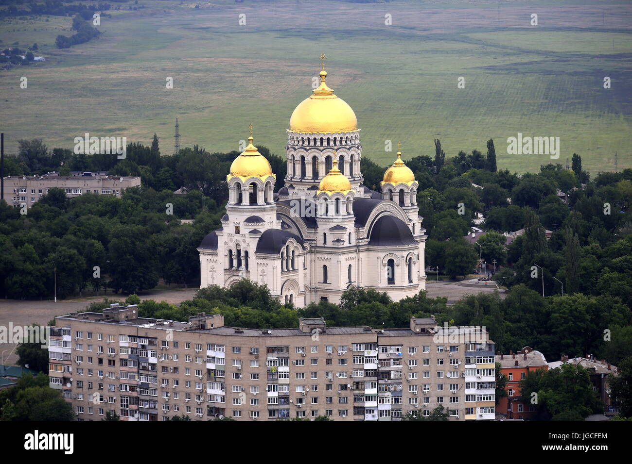 Novocherkassk, Russia. 14th June, 2017. A view of the Ascension Cathedral. Credit: Valery Matytsin/TASS/Alamy Live - Stock Image