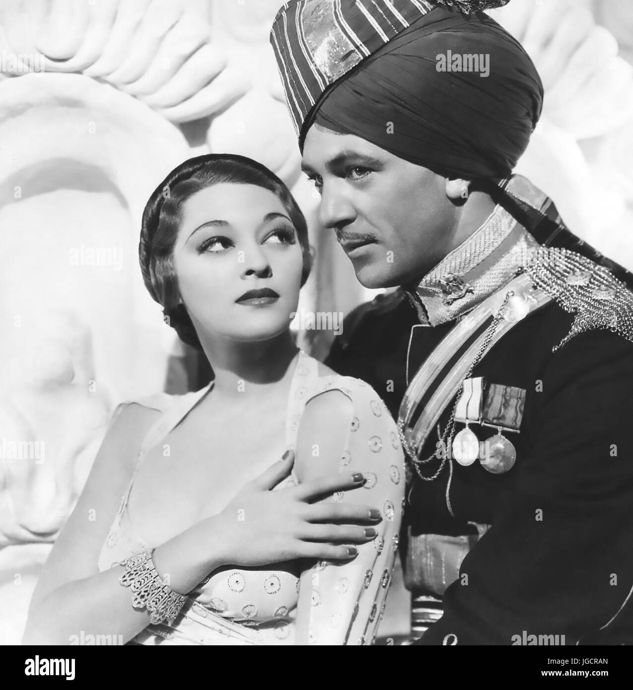 THE LIVES OF A BENGAL LANCER 1935 Paramount Pictures film with Gary Cooper and Kathleen Burke - Stock Image