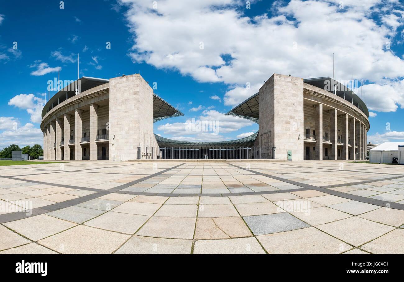 Olympiastadion ( Olympic Stadium) in Berlin, Germany - Stock Image