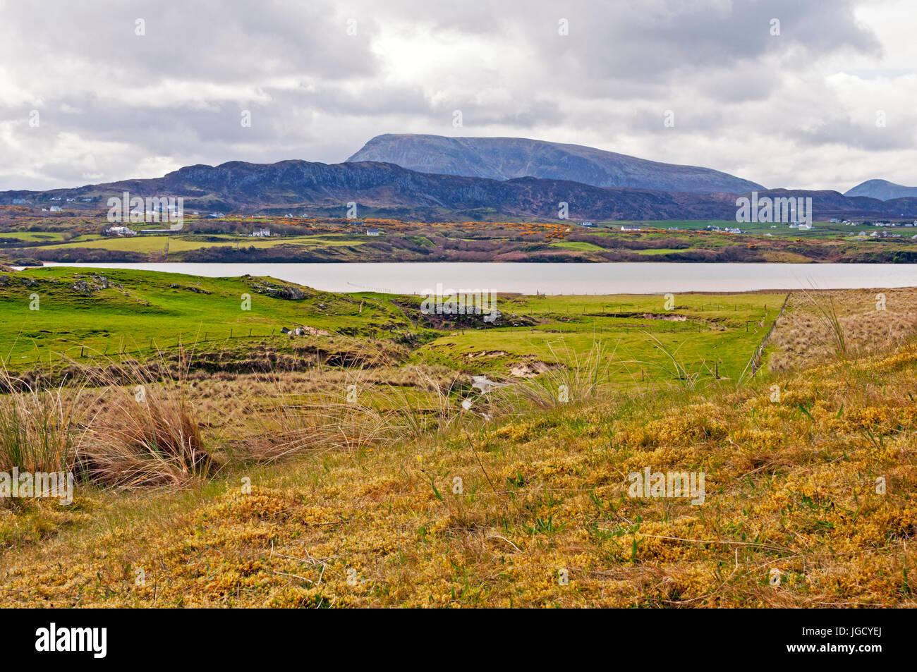 Looking toward Muckish Mountain, County Donegal, Ireland - Stock Image