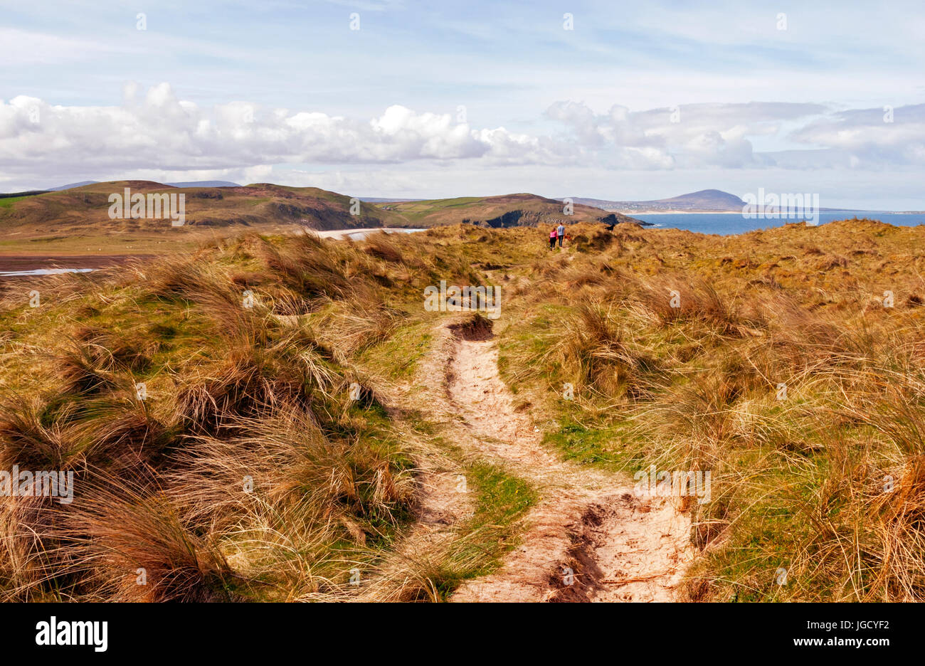 Trail to Tramore Beach, Dunfanaghy, County Donegal, Ireland - Stock Image