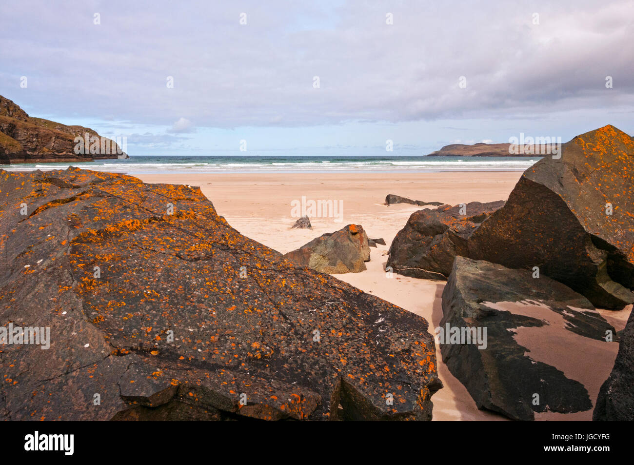 View from Tramore Beach, Dunfanaghy, County Donegal, Ireland - Stock Image
