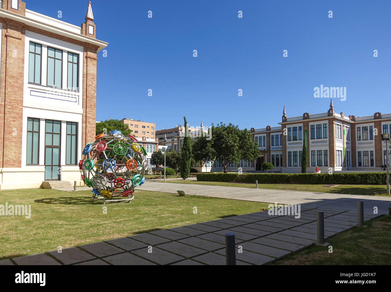 Entrance of Museo Automovilístico, Automobile Museum and Russian museum of Málaga, Andalusia, Spain - Stock Image