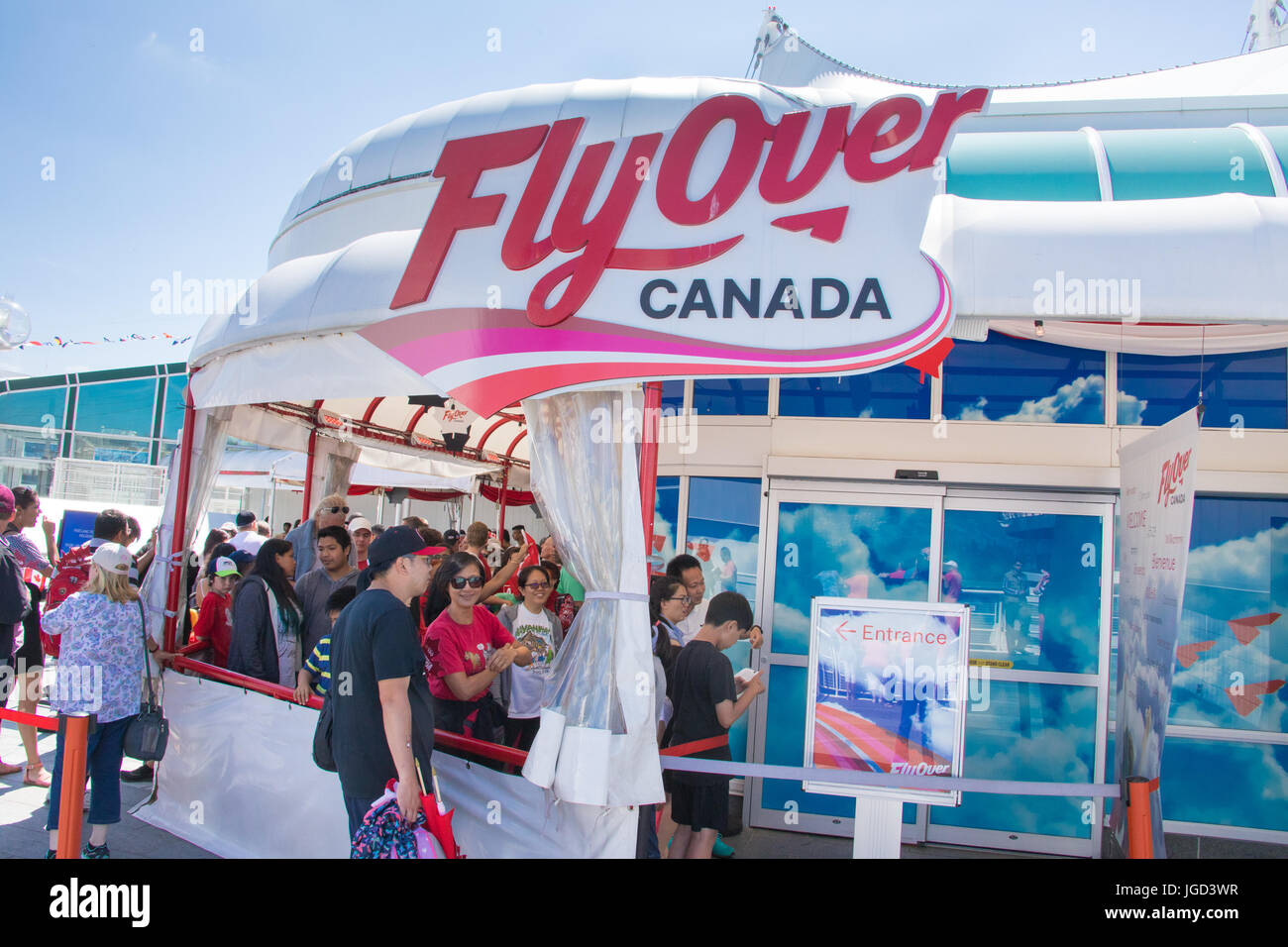 FlyOver Canada, one of Vancouver's most popular tourist activites, Waterfront, Canada Place,  Vancouver, Canada - Stock Image