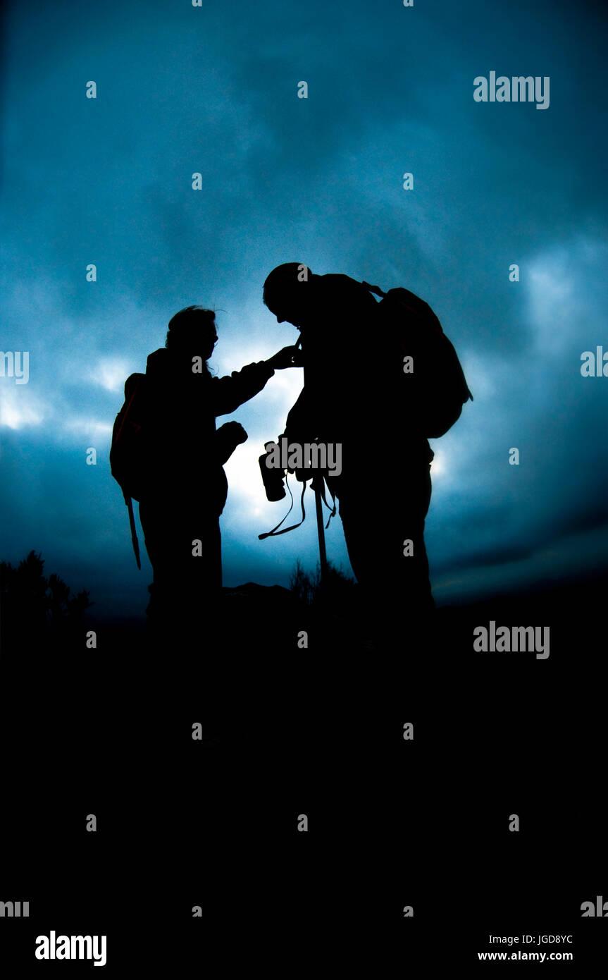 Mountain men. - Stock Image