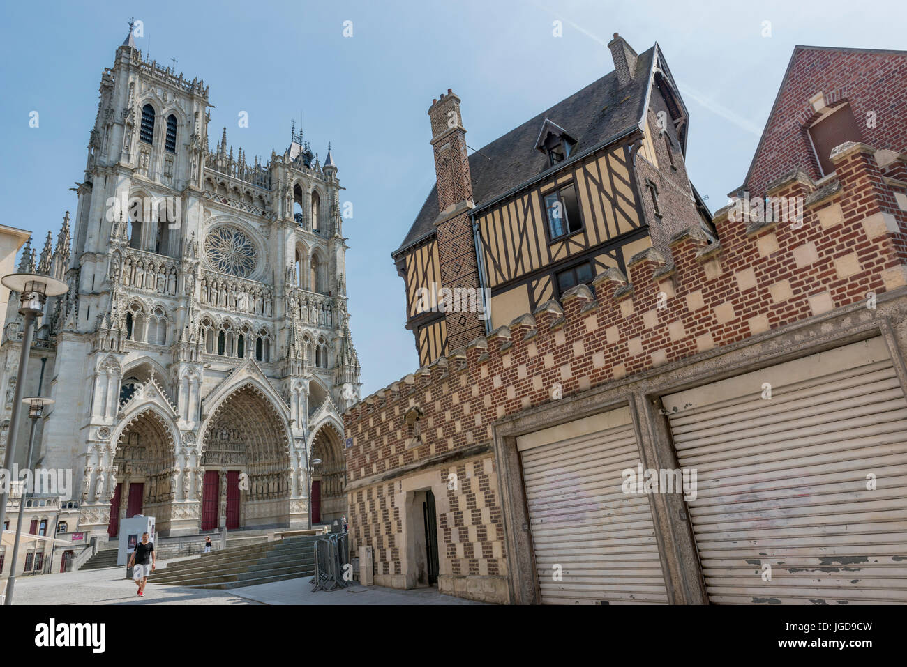 Amiens Cathedral, Amiens - Stock Image