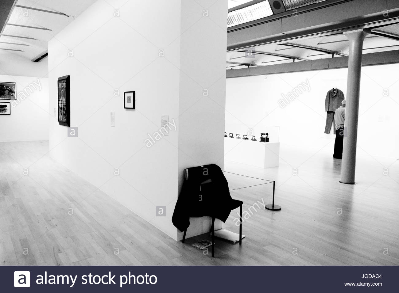 Gallery scene, Liverpool, UK. - Stock Image