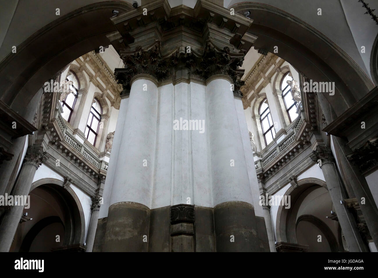 church interior, Venice, Italy. - Stock Image