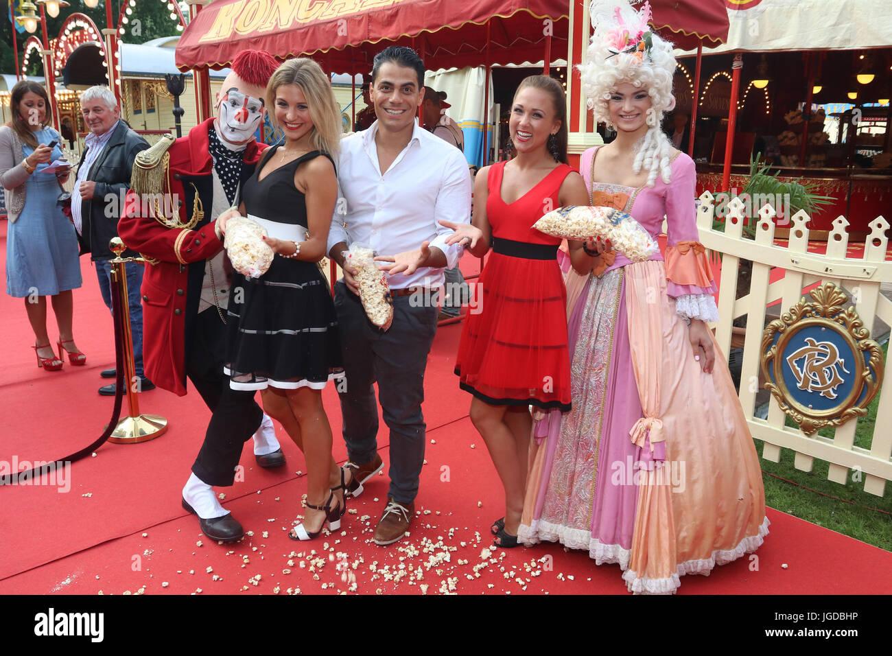 Roncalli Circus Premiere in Hamburg  Featuring: Hot Banditoz, Danika Wist, Silva Gonzalez, Stefanie Schanzleh Where: - Stock Image