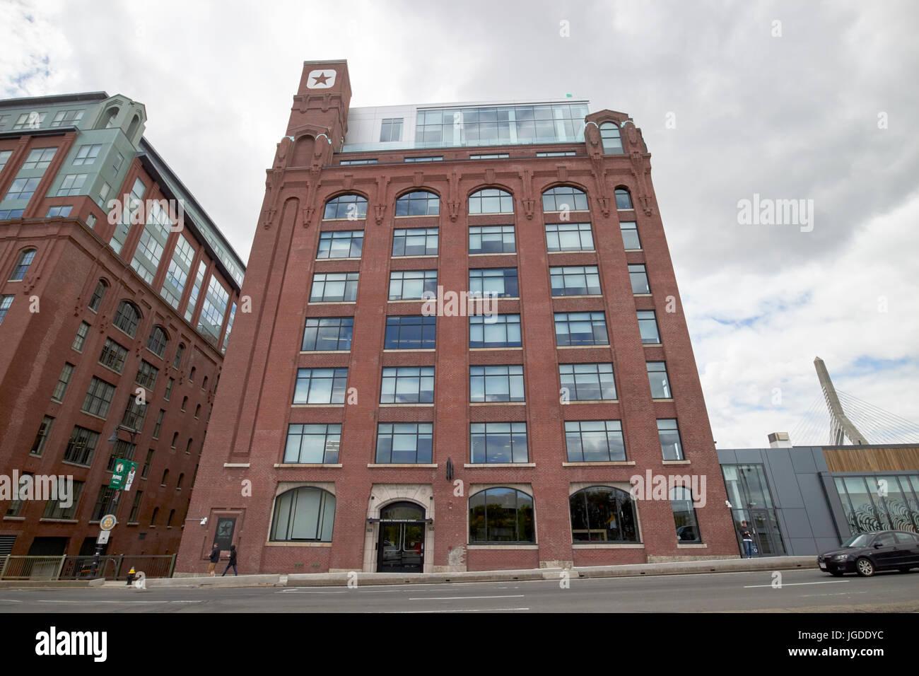 Lovejoy Wharf former submarine signal building converse world headquarters building Boston USA - Stock Image