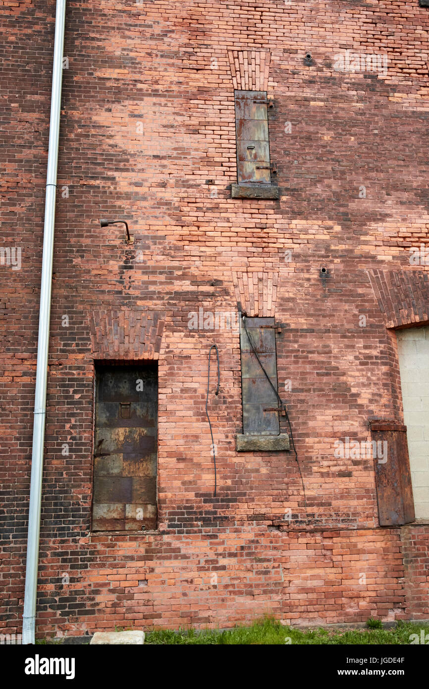 Metal Door And Window Shutters In Hoosac Stores Old Brick Wool Warehouse  Charlestown Navy Yard Boston USA
