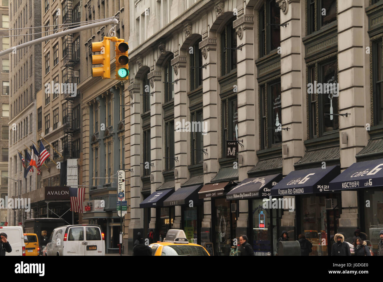 Fifth avenue, Times Square, New York, United States - Stock Image