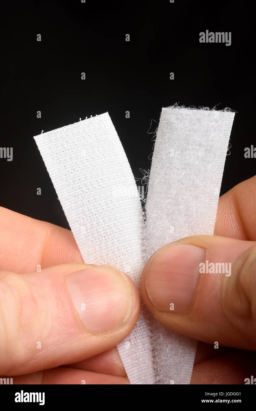detail finger and velcro - Stock Image