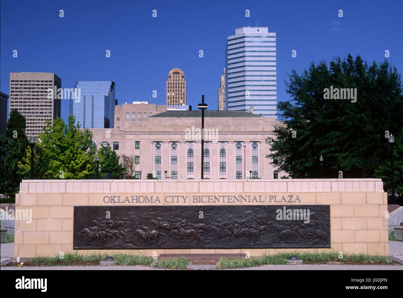 Bicentennial Park, Oklahoma City, Oklahoma Stock Photo