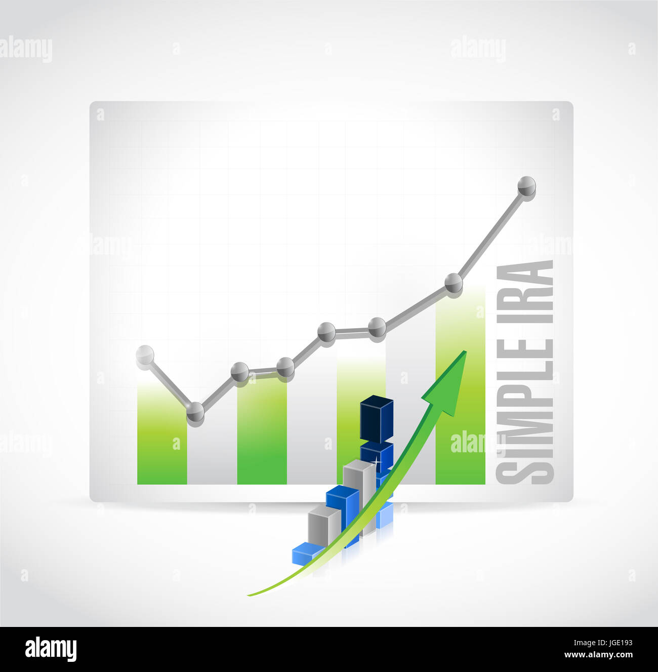 simple ira business graph illustration design icon isolated over white Stock Photo