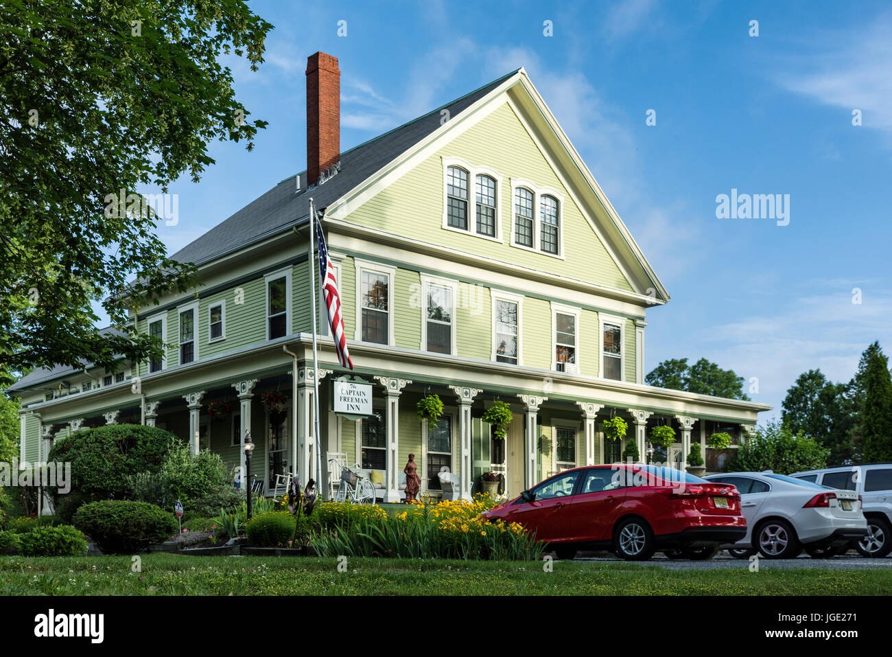 Captain Freeman Inn, Brewster, Cape Cod, Massachusetts, USA. - Stock Image