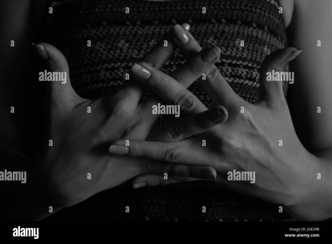 yogi - black backdrop - Stock Image