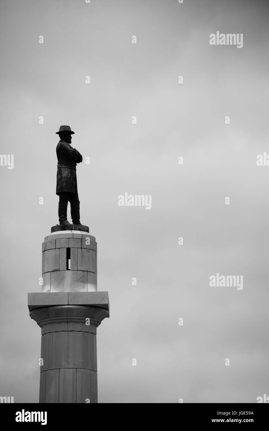 General Robert E Lee statue in downtown New Orleans before it was taken down and removed after being declared a - Stock Image
