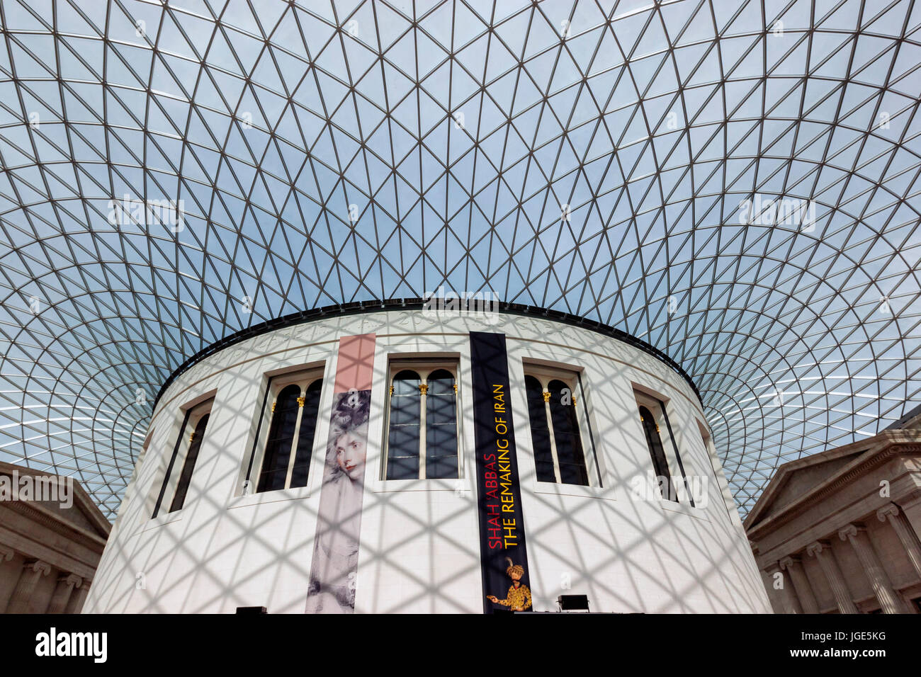 The British Museum Elizabeth II Great Court designed by Foster and Partners, the Queen Great London, England, UK - Stock Image