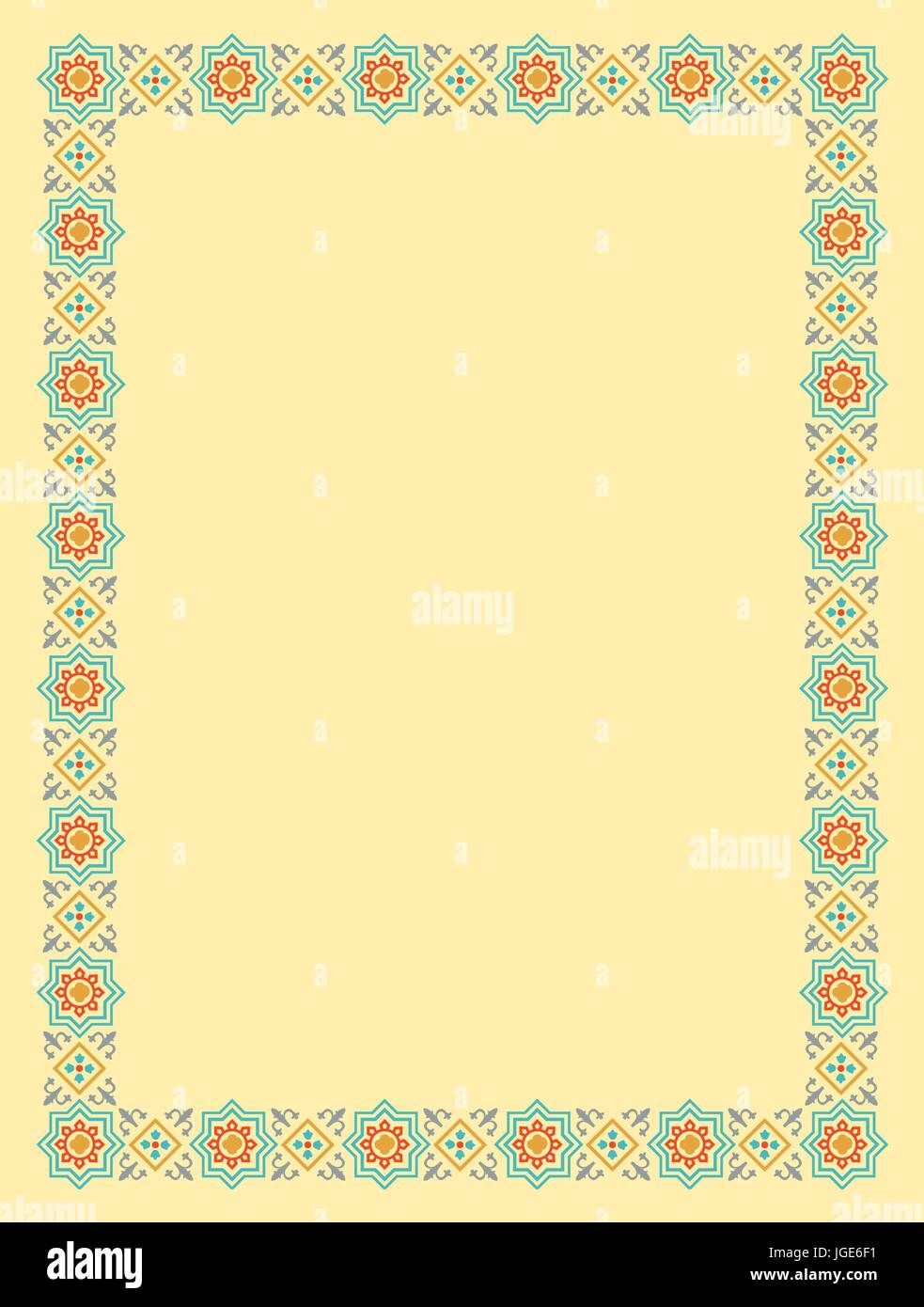 Frame & Border Islamic style Stock Vector Art & Illustration, Vector ...