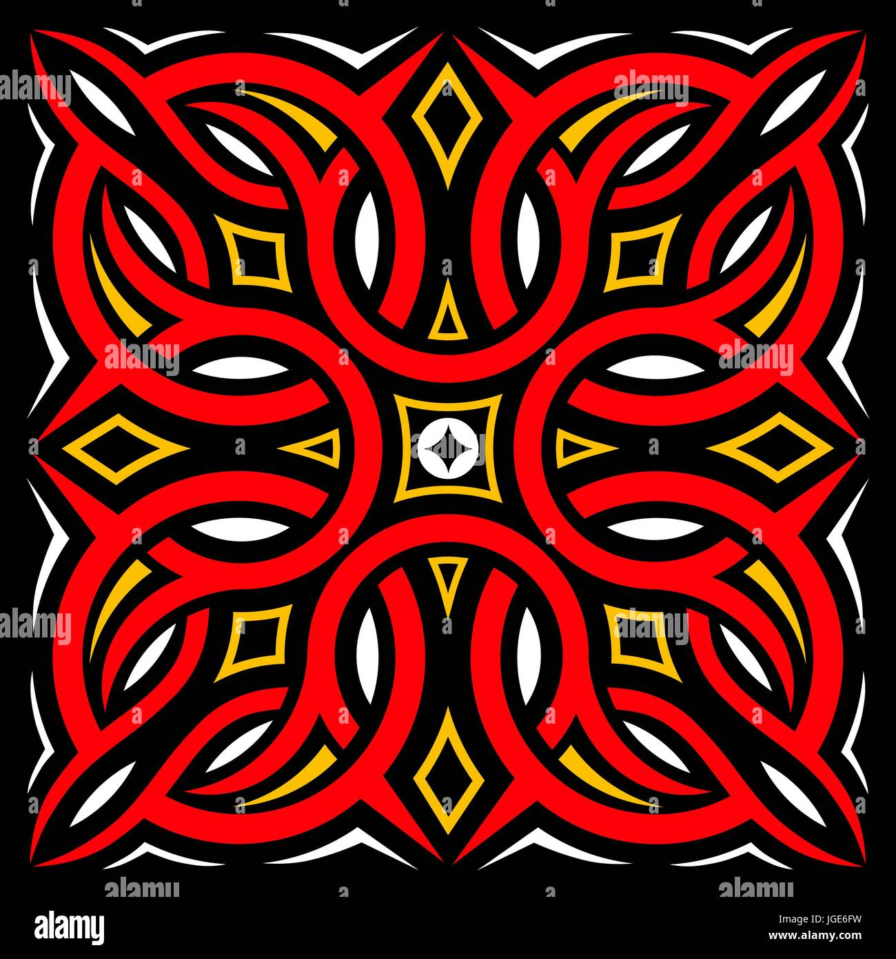 Traditional Carving Art From Indonesia Stock Vector
