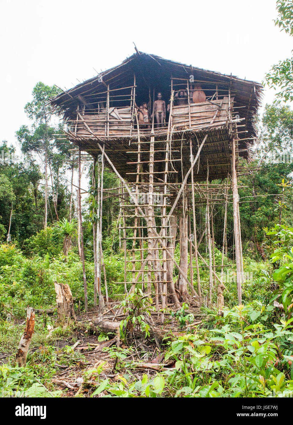 Picture of: Indonesia Onni Village New Guinea June 24 Traditional House Stock Photo Alamy