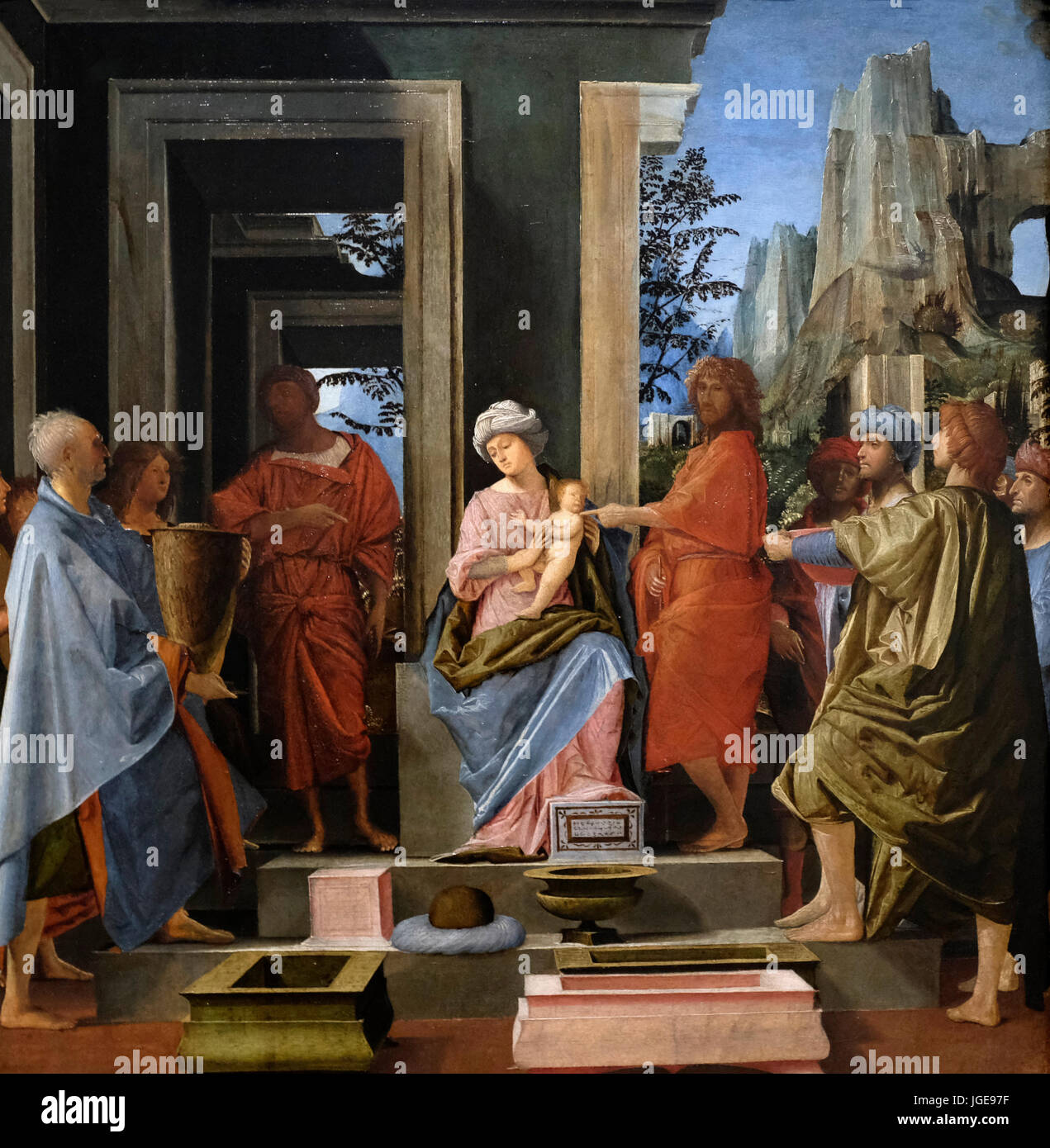 The Adoration of the Kings, Bramantino, circa 1500 - Stock Image