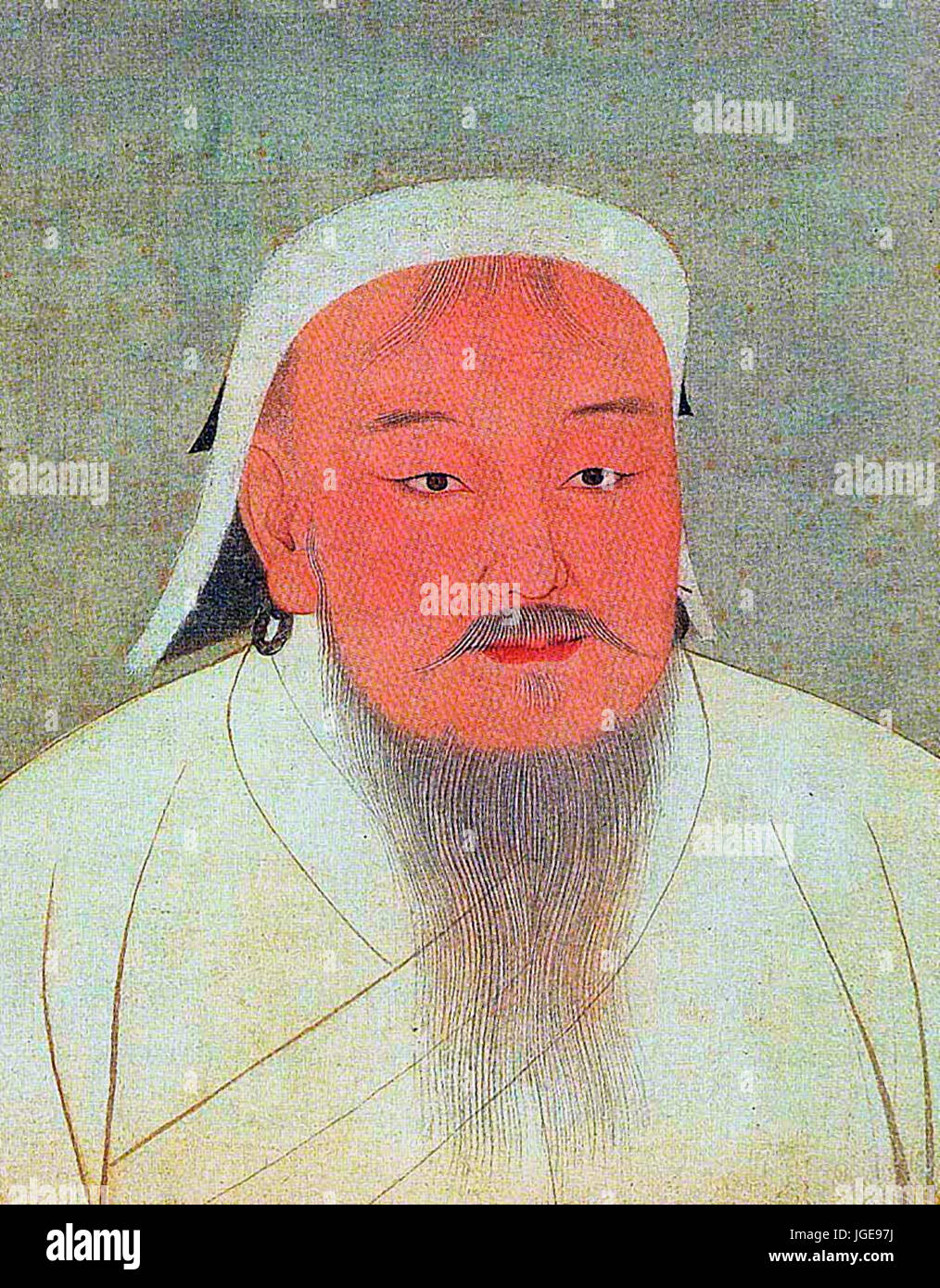 Taizu, better known as Genghis Khan, 14th century - Stock Image